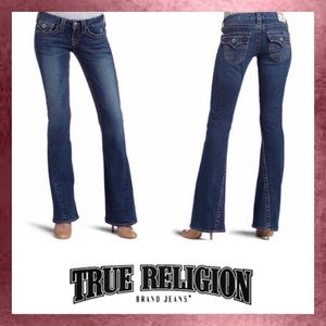 True Religion Low Rise Twisted Flare Jeans 30 10